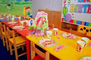 My Gym Doğum Günü Parti Masası Yakın Çekim